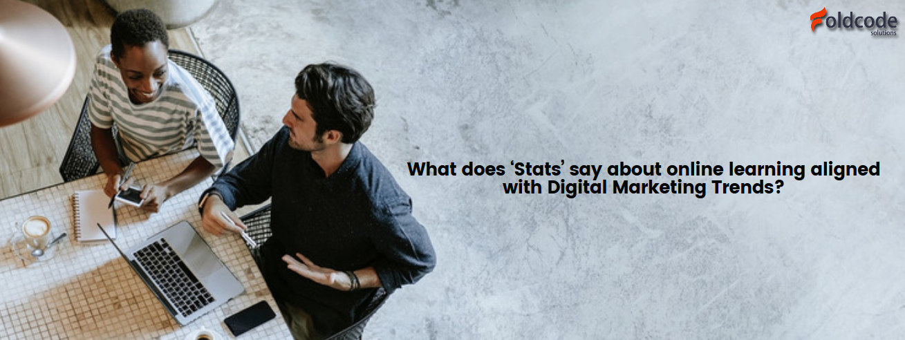 What does 'Stats' say about online learning aligned with digital marketing trends?